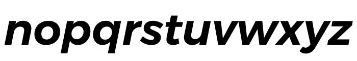 Argentum Sans SemiBold Italic Font LOWERCASE