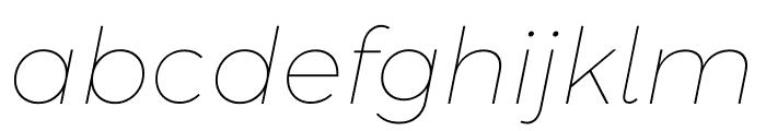 Argentum Sans Thin Italic Font LOWERCASE