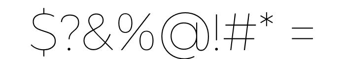 Argentum Sans Thin Font OTHER CHARS