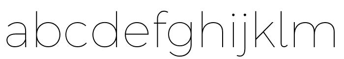 Argentum Sans Thin Font LOWERCASE