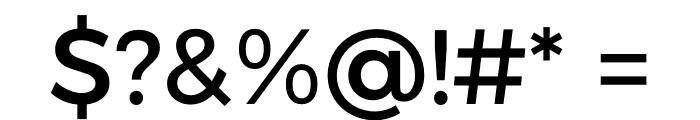 Argentum Sans Font OTHER CHARS