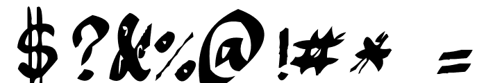 Argor Fast Scaqh Font OTHER CHARS
