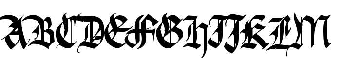 Argor Fast Scaqh Font UPPERCASE