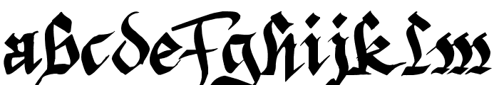 Argor Fast Scaqh Font LOWERCASE