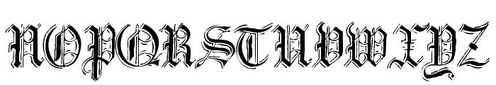 Argor Got Scaqh Font UPPERCASE