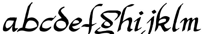 Argor Man Scaqh Font LOWERCASE