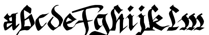 Argor Priht Scaqh Font LOWERCASE