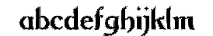 Argos George Contour Font LOWERCASE