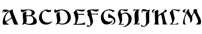 Argos Regular Font UPPERCASE