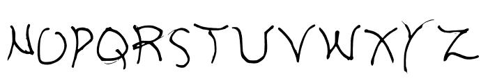 Aria Regular Font UPPERCASE