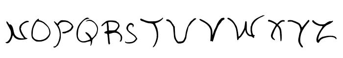 Aria Regular Font LOWERCASE