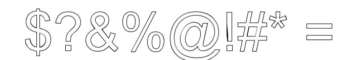 Arialic Hollow Font OTHER CHARS