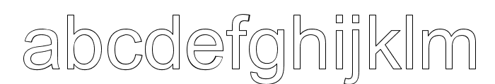 Arialic Hollow Font LOWERCASE
