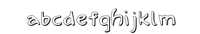 Arilon Shadow Font LOWERCASE