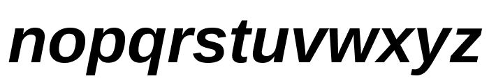 Arimo Bold Italic Font LOWERCASE