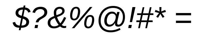 Arimo Italic Font OTHER CHARS