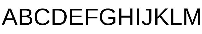 Arimo Font UPPERCASE