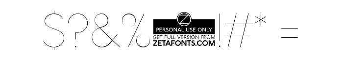 AristaProAlternate-UltraLight Font OTHER CHARS