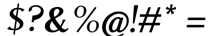 Aristocrat Oblique Font OTHER CHARS