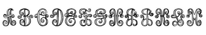 Aristogramos Chernow Font UPPERCASE