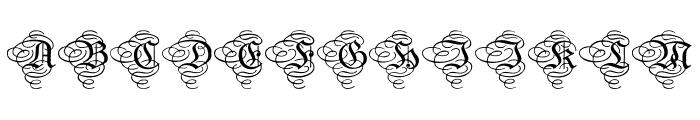Aristokrat Zierbuchstaben Font UPPERCASE