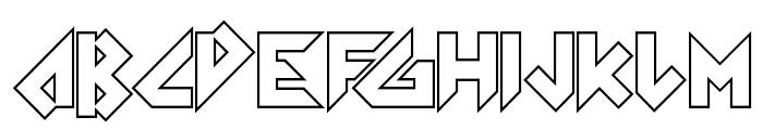 Arkanoid Font UPPERCASE
