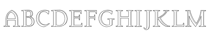 Arkwright Font UPPERCASE