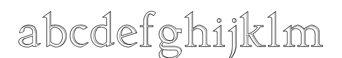 Arkwright Font LOWERCASE