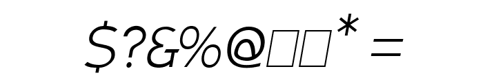Armata Hairline Oblique Font OTHER CHARS