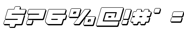 Armed Lightning 3D Italic Font OTHER CHARS