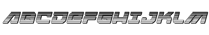 Armed Lightning Chrome Italic Font UPPERCASE