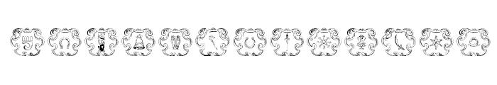 Armorial Font UPPERCASE
