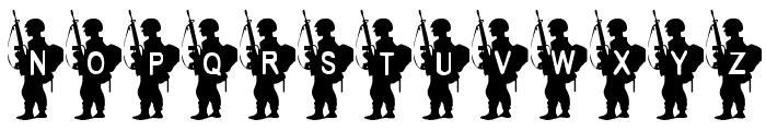 Army Boy Font UPPERCASE