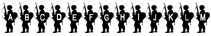 Army Boy Font LOWERCASE