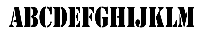 Army Condensed Font UPPERCASE
