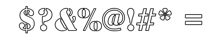 Army Hollow Condensed Font OTHER CHARS