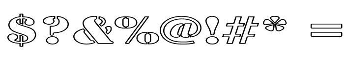 Army Hollow Expanded Font OTHER CHARS