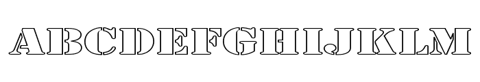 Army Hollow Expanded Font LOWERCASE