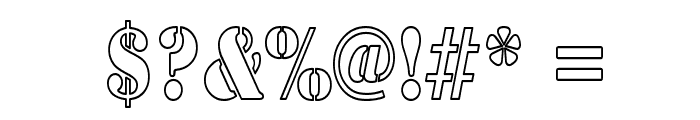 Army Hollow Thin Font OTHER CHARS