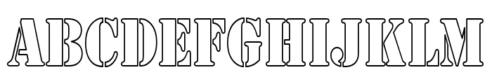 Army Hollow Thin Font UPPERCASE