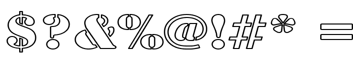 Army Hollow Wide Font OTHER CHARS