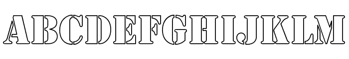 Army Hollow Font UPPERCASE