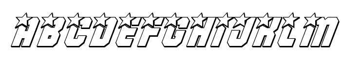 Army Rangers 3D Italic Font UPPERCASE