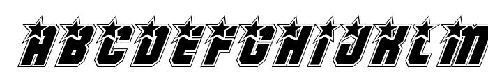 Army Rangers Academy Italic Font UPPERCASE