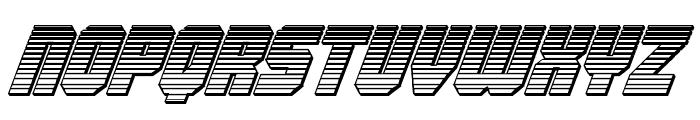 Army Rangers Chrome Italic Font LOWERCASE