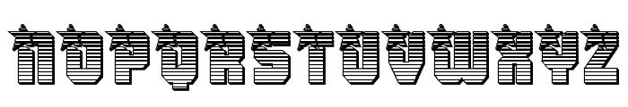 Army Rangers Chrome Regular Font UPPERCASE