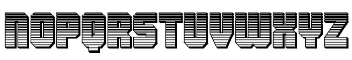 Army Rangers Chrome Regular Font LOWERCASE