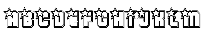 Army Rangers Engraved Regular Font UPPERCASE