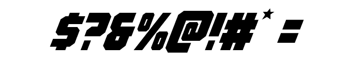 Army Rangers Italic Font OTHER CHARS