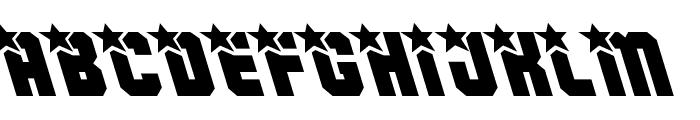 Army Rangers Leftalic Font UPPERCASE